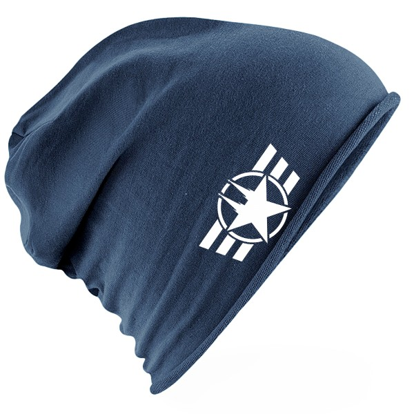 """Jersey Beanie """"COLOGNE FORCE"""" NAVY BLUE"""